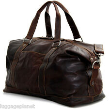 "Jack Georges Voyager Collection 18"" Leather Duffle Bag - Brown 7319"