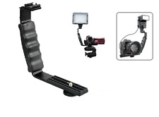 Pro VIVITAR L Bracket (2) Shoe FOR CAMCORDER Mic Microphone VIDEO Light Flash