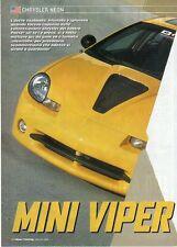 Q21 Clipping-Ritaglio 2002 Chrysler Neon - Mini Viper