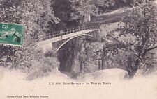 SAINT-GERVAIS 1970 le pont du diable photo jullien timbrée 1908