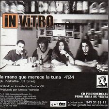 "IN VITRO ""LA MANO QUE MERECE LA CUNA"" RARE SPANISH PROMO CD SINGLE / BARRICADA"