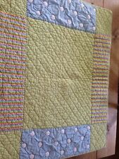 LAND OF NOD Baby Toddler Bed/Crib Quilt Or Wall Green Yellow