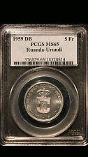 1959 DB PCGS MS65 Ruanda-Urundi 5 Francs