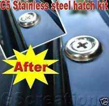C5 Corvette STAINLESS STEEL Hatch Screw Kit  LS1 GM Z06