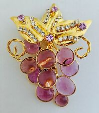Chris Crouch's Moans Couture French Technic Of Molten/Poured glass Amethyst Pin