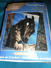 "J. & P. Coats Latch Hook Rug Kit Thoroughbred Horse 27"" x 40"" # 25035"