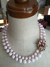 Vintage Original by Robert Milkglass Bead Necklace Flower Catch For Hakell Fans!