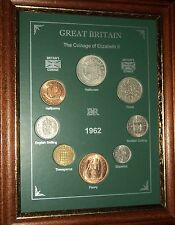 FRAMED 1962 COIN YEAR SET (RETRO 55th BIRTHDAY PRESENT WEDDING ANNIVERSARY GIFT)