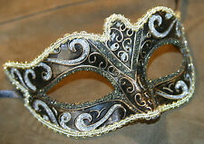 SILVER BLACK BRONZE & GOLD STUNNING VENETIAN  MASQUERADE PARTY EYE MASK BNWT