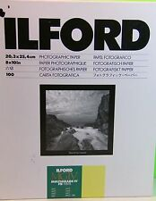 ILFORD 8 X 10 Inch Photographic Paper Matt 100 Sheets New