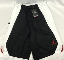 Nike Jordan MEN'S Athletic Basketball Loose Shorts Black White 820645 Size M