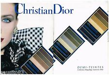 PUBLICITE ADVERTISING 095  1992  DIOR  maquillage (2p)  DEMI TEINTES