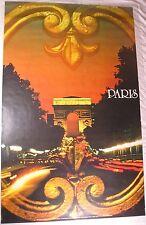 Cartel vendimia viajes Real-París en oro