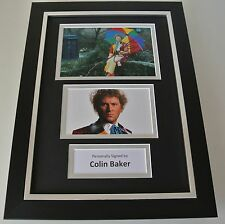 Colin Baker SIGNED A4 FRAMED Photo Autograph Display Doctor Dr Who TV & COA