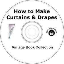 How to Make Curtains and Drapes Vintage Book Collection on CD - Make Curtains