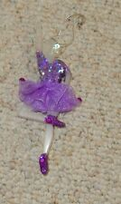 FROSTED ACRYLIC BALLERINA CHRISTMAS ORNAMENT