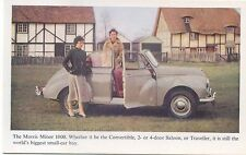 Morris Minor 1000 Convertible Original Factory issued colour Postcard not dated