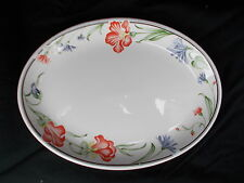 Churchill Hotelware Vitrified Floral Oval Steak Plate Diameter 11 inches