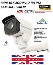 1080p TVI HD Mini PTZ Bullet CCTV Camera 80m IR 10x Zoom HIKVISION COMPATIABLE