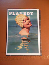 Blank greeting card Print of Playboy cover August (no date avail)  NEW in cello