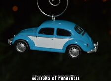 Volkswagen Blue Beetle Custom Christmas Ornament VW Bug 1/64 RARE Adorno Herbie