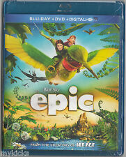 BLU-RAY - EPIC - From the Creators of Ice Age + DVD & Digital - ANIMATED - NEW
