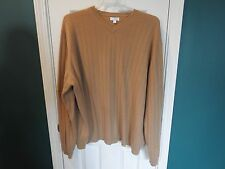 EUC mens XXL beige long sleeve sweater, made in madagascar.  feels very soft
