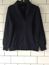 MENS NAVY BLUE TOMMY HILFIGER URBAN VINTAGE RETRO SWEATSHIRT SWEATER SIZE SMALL