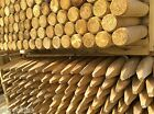 Fencing Stakes Machined Round & Pointed Fence Posts 50mm / 60mm 1.2m 1.65m 1.8m