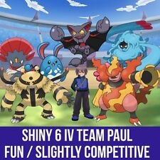 Pokemon Guide - Shiny  / 6IV perfect  Pokemon Trainer Paul's Team + (Bonus)