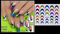 Nail art stickers french tips colours Manicure Decals Tips Decoration