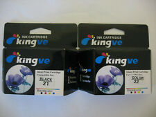 2 PK Remanufactured Ink Cartridges for HP 21 22 fits PSC 1410 1415  HP21 HP22