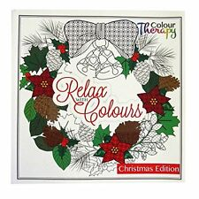 Tallon Colour Therapy Christmas Premium Adult Colouring Book - 60 Designs