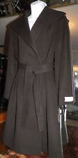NWT Women's 14 Calvin Klein Wool Angora Coat Chocolate Belted Shawl Collar $360
