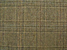 100% Pure New Wool Check Tweed Fabric 2.2 m