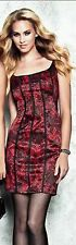 New Guess Red Ginger Sleeveless Lace-Print Dress size 2