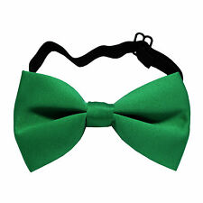 New KID'S BOY'S 100% Polyester Pre-tied Bow tie only emerald green wedding