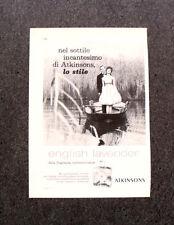 L985- Advertising Pubblicità -1960- ENGLISH LAVENDER ATKINSONS  LO STILE
