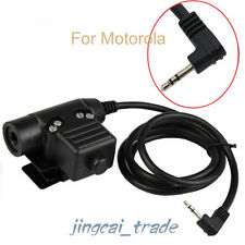 Z-Tactical U94 Headset Cable Adapter & PTT for Motorola Cobra 1-Pin 2.5mm Radio