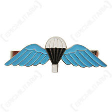 British Parachute Wings LARGE TIE PIN - Blue Enameled Military Style Accessory