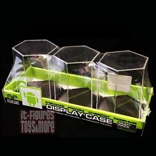 ANDROID Foundry HEXAGONAL Acrylic Display Case 3-Pack for Vinyl Figures IN STOCK