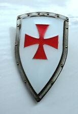 ZP413 Knights Templar Shield Crusader St George Cross Pin Badge Medieval