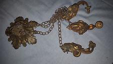 suspension en bronze , monture pour lustre Muller, Degué, Daum, art déco ,bélier