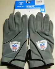 Reebok Nfl Equipment GLOVES Web II col, TG S, Grigio receiver + RB