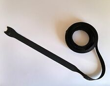 "(20x) Reusable Adjustable Black Self Gripping 8"" Cable Wire Cord Tie Straps"