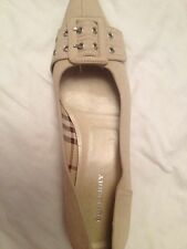 burberry Cream Buckle Shoes