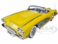 1958 CHEVROLET CORVETTE YELLOW 1/18 DIECAST CAR MODEL BY MOTORMAX 73109