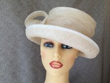 Ladies Formal Occasion Wedding Races Hat Cream Ivory Loops By Marks & Spencer