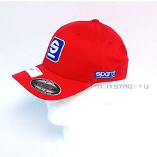 Sparco Official Racing Icon Original FlexFit Red Baseball Cap Hat Size S/M