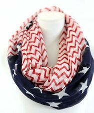 "American Flag Infinity Scarf 30x70"" Chevron Stars & Stripes Nordstrom"